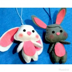 خرید و قیمت آویز نمدی کوچک طرح خرگوش از آف ایران
