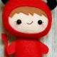 خرید و قیمت دختر قرمز پوش (نونا) نمدی از آف ایران