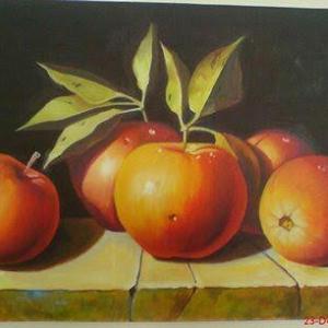 خرید و قیمت تابلو رنگ روغن (طرح سیب) از آف ایران
