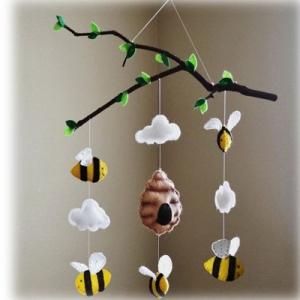 خرید و قیمت آویز نمدی طرح زنبور عسل از آف ایران