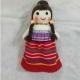 خرید و قیمت عروسک بافتنی طرح دختر شمالی از آف ایران