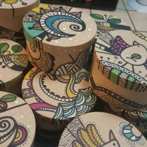 خرید و قیمت جعبه کادو طرح استوانه از آف ایران