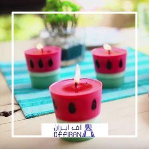 خرید و قیمت شمع استوانه ای طرح یاقوت از آف ایران
