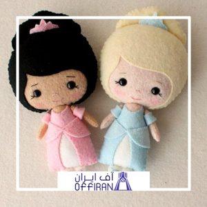 خرید و قیمت عروسک نمدی طرح سارا و تارا از آف ایران