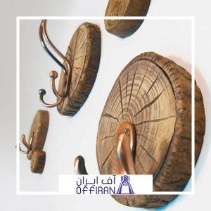 خرید و قیمت آویز لباس چوبی طرح مدرن از آف ایران