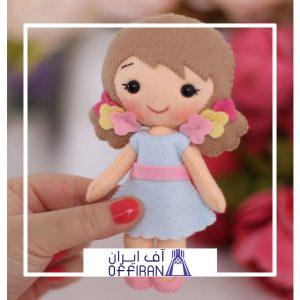 خرید و قیمت عروسک نمدی طرح نورا از آف ایران