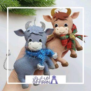 خرید و قیمت عروسک گاو نمدی طرح نوروز از آف ایران