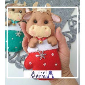 خرید و قیمت عروسک گاو نمدی طرح ستاره از آف ایران