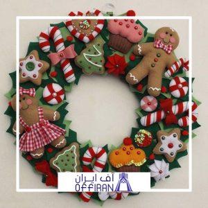 خرید و قیمت حلقه کریسمس طرح کوکی از آف ایران