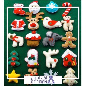 خرید و قیمت عروسک های نمدی طرح کریسمس از آف ایران
