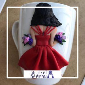 خرید و قیمت ماگ سرامیکی مدل دختر گلفروش از آف ایران