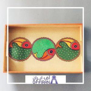 خرید و قیمت سینی چوبی مدل جالیز از آف ایران