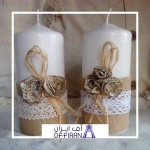 خرید و قیمت شمع استوانه ای مدل شاپرک از آف ایران